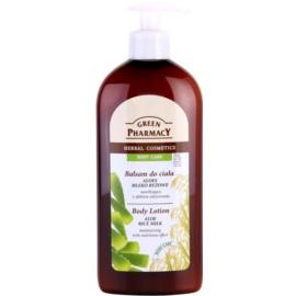 Green Pharmacy Body Care Aloe & Rice Milk hidratáló testápoló tej tápláló hatással  500 ml