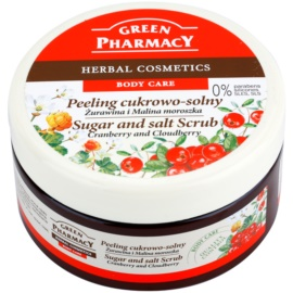 Green Pharmacy Body Care Cranberry & Cloudberry cukrovo-solný peeling  300 ml