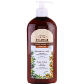 Green Pharmacy Body Care Olive & Argan Oil leche corporal nutritiva con efecto humectante  500 ml