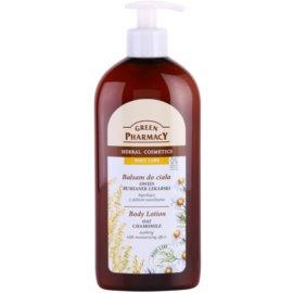 Green Pharmacy Body Care Oat & Chamomile beruhigende Hautmilch mit feuchtigkeitsspendender Wirkung  500 ml