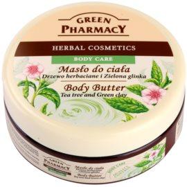 Green Pharmacy Body Care Tea Tree & Green Clay unt  pentru corp  200 ml