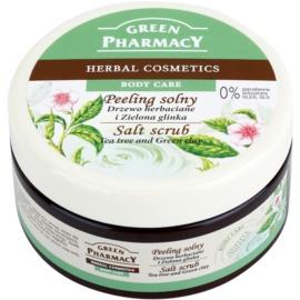 Green Pharmacy Body Care Tea Tree & Green Clay soľný peeling  300 ml