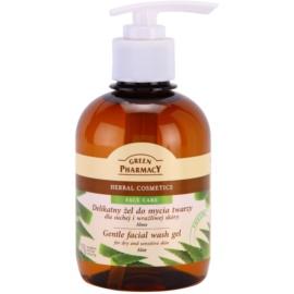 Green Pharmacy Face Care Aloe jemný čistiaci gél pre citlivú a suchú pleť  270 ml