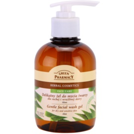 Green Pharmacy Face Care Aloe sanftes Reinigungsgel für empfindliche und trockene Haut  270 ml