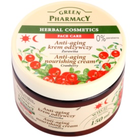 Green Pharmacy Face Care Cranberry creme nutritivo anti-idade de pele  150 ml