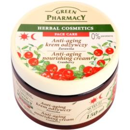 Green Pharmacy Face Care Cranberry поживний крем проти старіння шкіри  150 мл