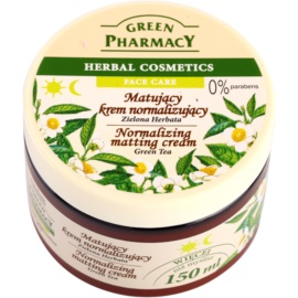 Green Pharmacy Face Care Green Tea mattierende Creme für fettige und Mischhaut  150 ml