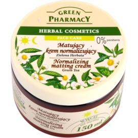 Green Pharmacy Face Care Green Tea creme matificante  para pele mista e oleosa  150 ml
