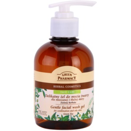 Green Pharmacy Face Care Green Tea delikatny żel oczyszczający do skóry tłustej i mieszanej  270 ml
