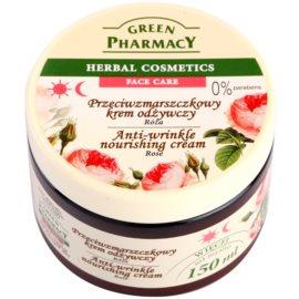 Green Pharmacy Face Care Rose поживний крем проти зморшок  150 мл