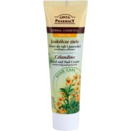 Green Pharmacy Hand Care Celandine hydratisierende und schützende Creme für Hände und Fingernägel  100 ml