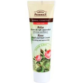 Green Pharmacy Hand Care Rose nährende und feuchtigkeitsspendende Creme für Hände und Fingernägel  100 ml
