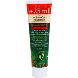 Green Pharmacy Foot Care relaxační krém na unavené chodidla a nohy se sklonem k otokům  100 ml