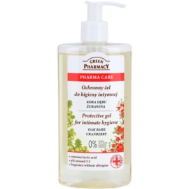 Green Pharmacy Pharma Care Oak Bark Cranberry schützendes Gel für die intime Hygiene  300 ml