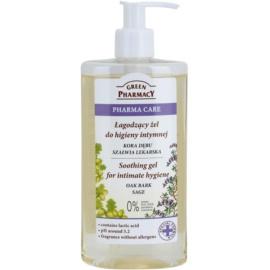 Green Pharmacy Pharma Care Oak Bark Sage zklidňující gel na intimní hygienu  300 ml