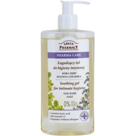 Green Pharmacy Pharma Care Oak Bark Sage beruhigendes Gel für die intime Hygiene  300 ml