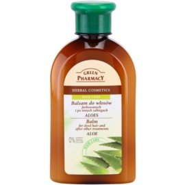 Green Pharmacy Hair Care Aloe bálsamo para cabelos pintados e quimicamente tratados  300 ml