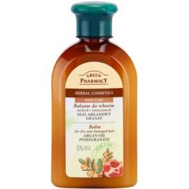 Green Pharmacy Hair Care Argan Oil & Pomegranate Balsam für trockenes und beschädigtes Haar  300 ml