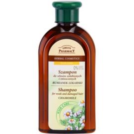 Green Pharmacy Hair Care Chamomile Shampoo voor Futloos en Beschadigd Haar   350 ml
