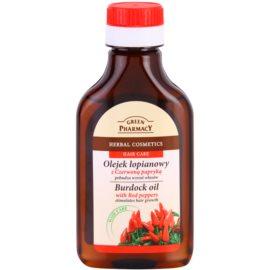 Green Pharmacy Hair Care Red Peppers óleo de bardana para estimular o crescimento do cabelo  100 ml