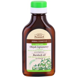 Green Pharmacy Hair Care Tea Tree & Rosemary lopuchový olej proti lupům  100 ml
