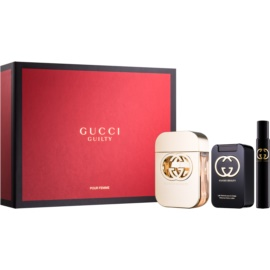 Gucci Guilty darilni set I. toaletna voda 75 ml + losjon za telo 100 ml + toaletna voda 7,4 ml