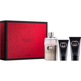 Gucci Guilty Pour Homme ajándékszett VI. Eau de Toilette 90 ml + borotválkozás utáni balzsam 75 ml + tusfürdő gél 50 ml