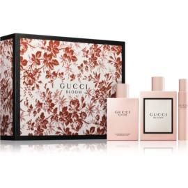 Gucci Bloom zestaw upominkowy III.  woda perfumowana 100 ml + mleczko do ciała 100 ml + woda perfumowana roll-on 7,4 ml