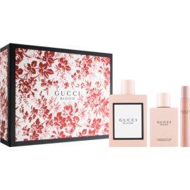 Gucci Bloom dárková sada III.  parfémovaná voda 100 ml + tělové mléko 100 ml + parfémovaná voda roll-on 7,4 ml