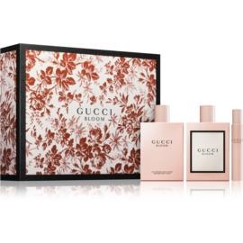 Gucci Bloom zestaw upominkowy I.  woda perfumowana 100 ml + mleczko do ciała 200 ml + woda perfumowana roll-on 7,4 ml