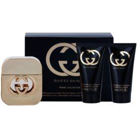 Gucci Guilty set cadou VII.  Apa de Toaleta 50 ml + Gel de dus 50 ml + Crema de corp 50 ml