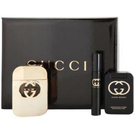 Gucci Guilty подарунковий набір І  Туалетна вода 75 ml + Молочко для тіла 100 ml + Туалетна вода 7,4 ml