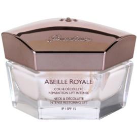 Guerlain Abeille Royale Creme für Hals und Dekolleté zur intensiven Erneuerung und Straffung der Haut SPF 15  50 ml