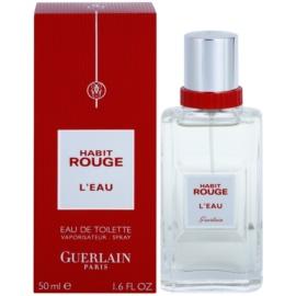 Guerlain Habit Rouge L'Eau Eau de Toilette for Men 50 ml
