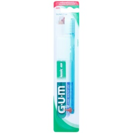 G.U.M Classic Compact escova de dentes com estimulador de borracha soft