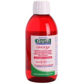 G.U.M Gingidex 0,12% Mundwasser gegen Plaque für gesundes Zahnfleisch ohne Alkohol  300 ml