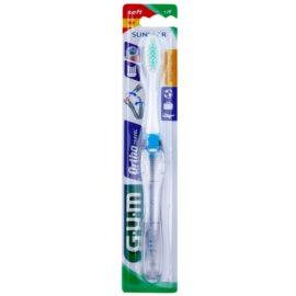 G.U.M Ortho-Travel utazó fogkefe fogszabályozóhoz gyenge