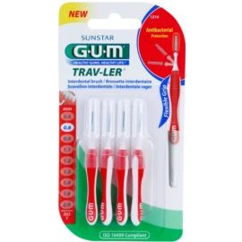G.U.M Trav-Ler escovas interdentais 4 pcs 0,8 mm
