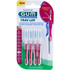 G.U.M Trav-Ler escovas interdentais 4 pcs 1,4 mm