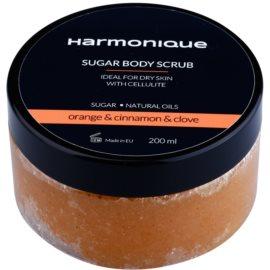 Harmonique Orange & Cinnamon & Clove cukrový peeling proti celulitidě  200 ml