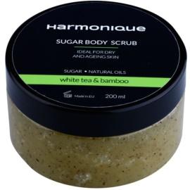 Harmonique White Tea & Bamboo Zucker-Peeling gegen Hautalterung  200 ml