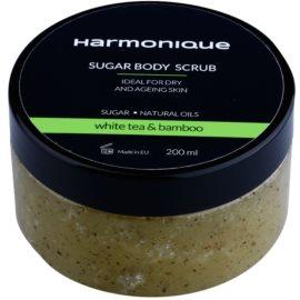 Harmonique White Tea & Bamboo cukrový peeling proti stárnutí pokožky  200 ml
