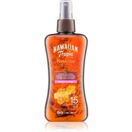 Hawaiian Tropic Protective aceite seco solar resistente al agua SPF 15  200 ml