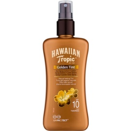 Hawaiian Tropic Golden Tint védő testtej spray formában SPF 10  200 ml