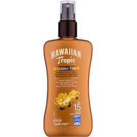 Hawaiian Tropic Golden Tint Schützende Körpermilch als Spray LSF 15  200 ml