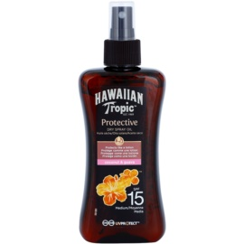 Hawaiian Tropic Protective wodoodporny suchy olejek ochronny do opalania SPF15  200 ml