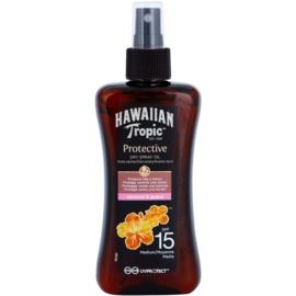 Hawaiian Tropic Protective Waterproef Beschermende Droge Olie voor Bruinen  SPF 15  200 ml