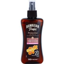Hawaiian Tropic Protective vodoodporno zaščitno suho olje za sončenje SPF 20  200 ml