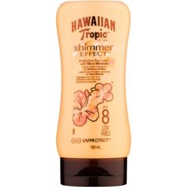 Hawaiian Tropic Shimmer Effect mleczko do opalania SPF 8  180 ml