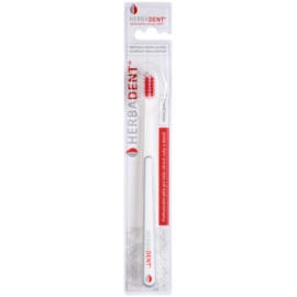 Herbadent Dental Care escova de dentes com cabeça curta extra suave White/Gray & Red
